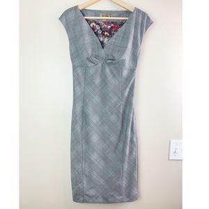 Ted Baker London Grey Plan Pencil Dress